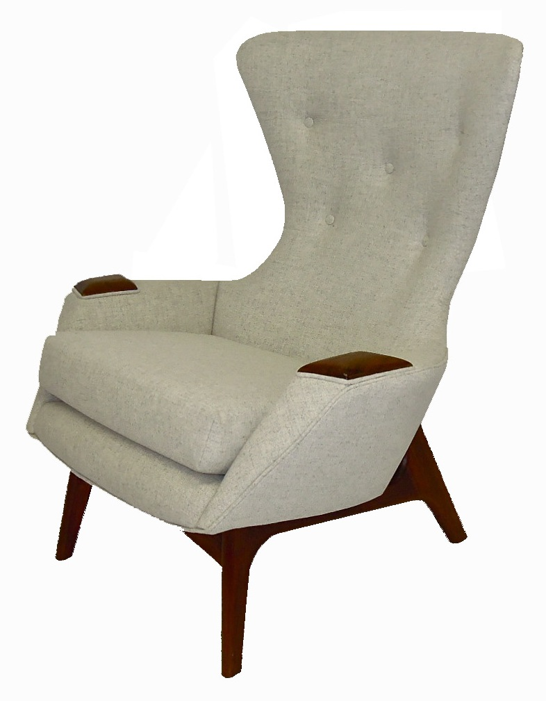Mod Pearsall Wing Chair Reupholster 2