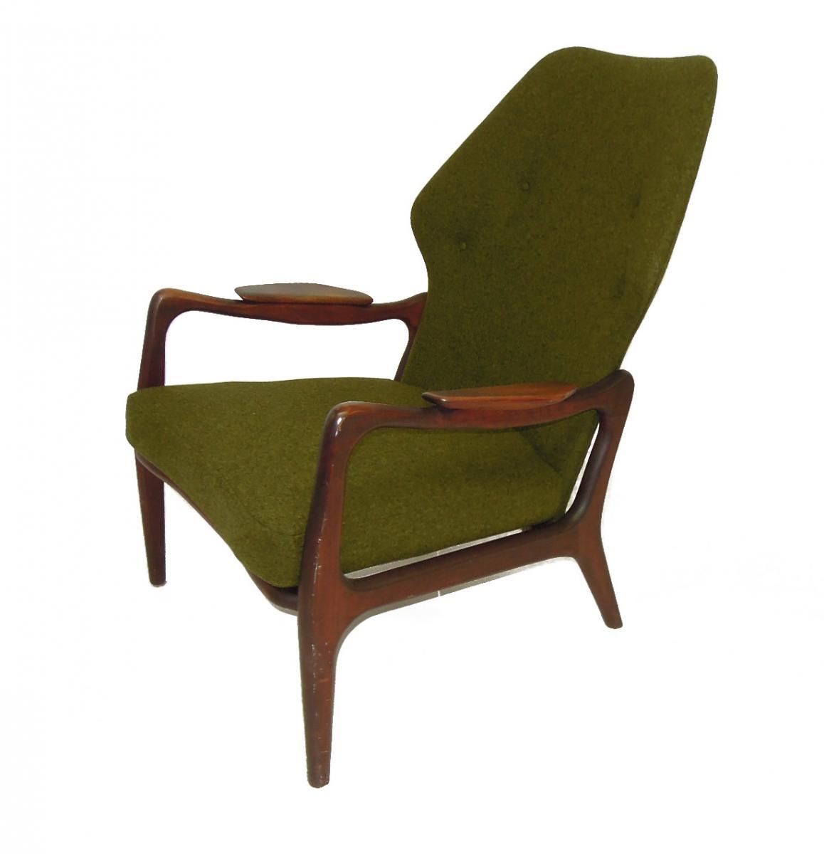 Mid Century Danish Sofa Set Lounge Chair